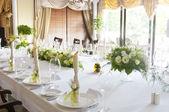 Düğün tablo ayarı — Stok fotoğraf