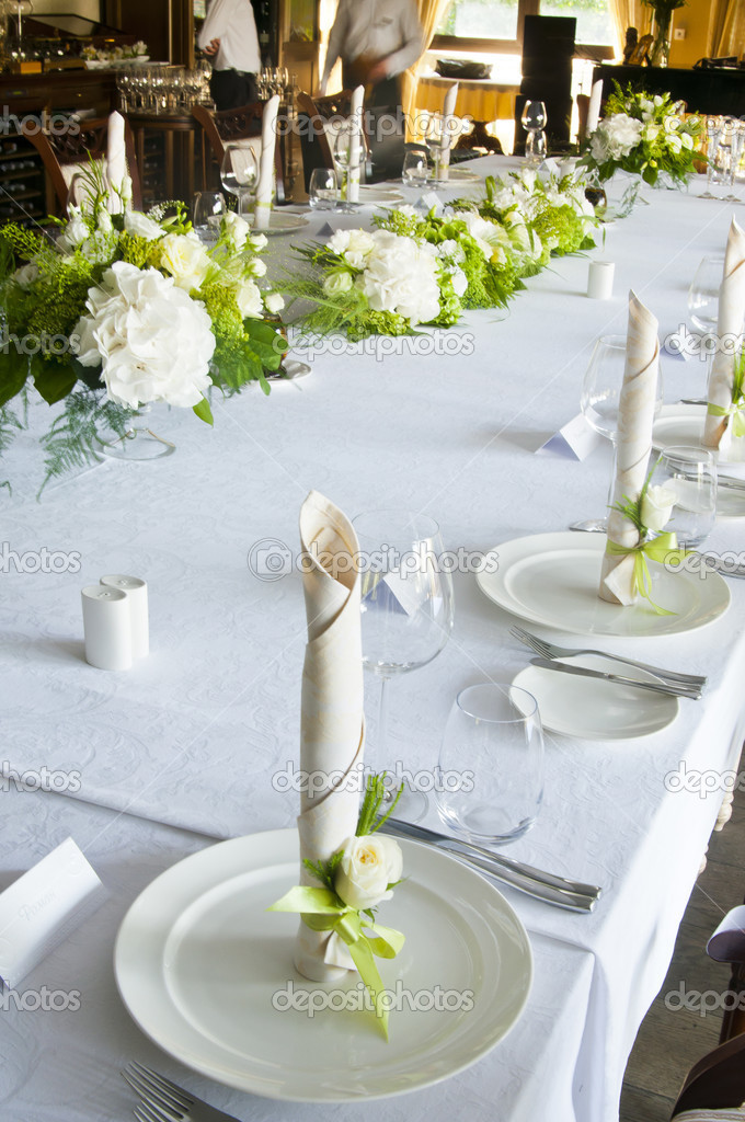 Wedding table setting  Stock Photo #13391127
