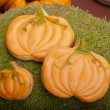Pumpkin cookies — Stock Photo