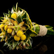 Exotic bouquet on black background - Stock Photo