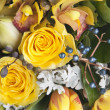 Beautiful bouquet of yellow flowers - Stock Photo