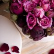 Roses in gift box  — Stock Photo