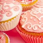 Pink cupcakes — Stock Photo