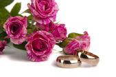 ローズの結婚指輪 — ストック写真