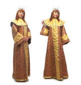 Woman in costume of queen — Stock Photo
