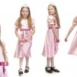Little cute girl in pink dress — Stock Photo #15646957