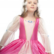 Little cute girl in pink dress — Stock Photo #16180363