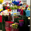 Sale in flower shop — Stock Photo