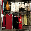 Department of women clothes in shop — Foto de Stock