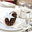 Luxury place setting for wedding — Stock Photo #16832477