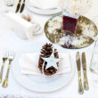 Luxury place setting for wedding — Stock Photo #16832489