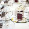 Luxury place setting for wedding — Photo