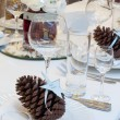 Luxury place setting for wedding — Stock Photo #16832539