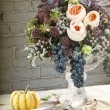 Table setting with flowers decoration - Foto de Stock  