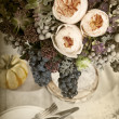 Stock Photo: Table setting with flowers decoration