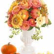 Autumn bouquet with apple — Stock Photo