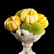 Still life with old vase and pumpkin — Stock Photo
