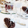 Luxury place setting for wedding — Stock Photo