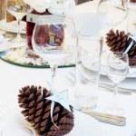Luxury place setting for wedding — Stock Photo