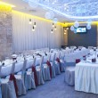 Wedding reception place ready for guests  — Photo