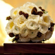 Wedding bouquet with pine cones - Stock Photo