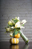 Bouquet with pumpkin — Stock Photo