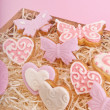 Foto Stock: Cookies for valentine's day