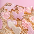 Stock Photo: Cookies for valentine's day