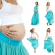 Portrait of pregnant beautiful woman — Stock Photo
