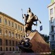 Georgi pobedonosec monument, Lvov - Stock Photo