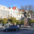 LVIV, UKRAINE, NOVEMBER 3, 2012: Galicka square, on November 3, 2012, in Lviv, Ukraine — Stock Photo
