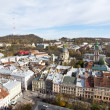 Beautifu view of the city form the town hall, Lvov — Stock Photo #17013883
