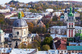 Beautiful view from the Town Hall, Lviv, Ukraine — Stock Photo