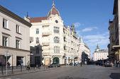 Bela rua na cidade velha, lvov — Foto Stock