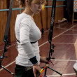 KIEV, UKRAINE, MARCH 8, 2012 : archery competition, on March 8, 2012, Kiev, Ukraine - Stock Photo