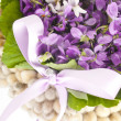 Wedding violet bouquet - Stok fotoğraf