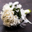 Wedding bouquet on dark background - 图库照片