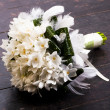 Wedding bouquet on dark background - Stok fotoğraf