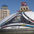 KIEV, UKRAINE, MAY 2, 2012: advertising foot ball dedicated to the championship EURO 2012, on May 2, 2012, Kiev, Ukraine - Stock Photo