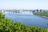 View of Dnipro river, Kiev — Stock Photo