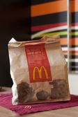 KIEV, UKRAINE, MAY 2:Macdonalds menu in a paper bag, on May 2, 2012, Kiev, ukraine — Stok fotoğraf