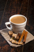 Masala tea with spices — 图库照片