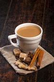 Masala thee met kruiden — Stockfoto