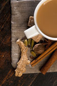 Masala tea with spices — Stockfoto