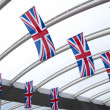 Small British Union Jack flags — 图库照片