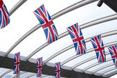 Small British Union Jack flags — Stock Photo