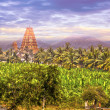 Virupaksha Hindu Temple in Hampi - Stock Photo