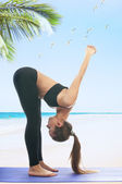 Uttanasana yoga pose — Stock Photo