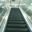 International Airport Kyiv Boryspil. Escalator - Stock Photo