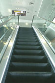 International Airport Kyiv Boryspil. Escalator — Stock Photo